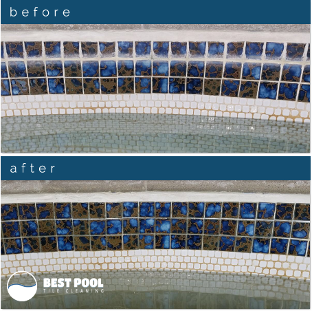 Best Pool Tile Cleaning before and after
